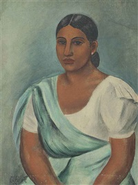 untitled (sri lankan woman) by george keyt