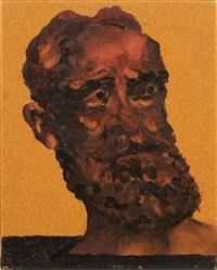 portrait de bernard shaw by aldo mondino