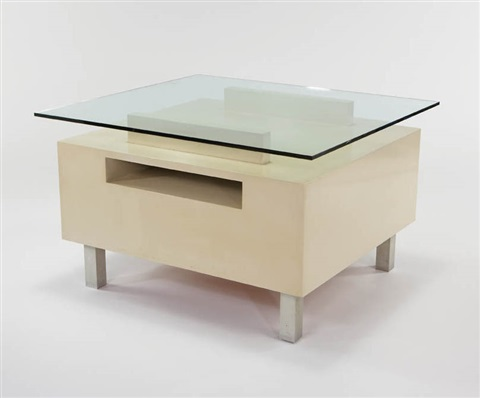 Coffee Table With Inset Bookshelf By Paul Lszl