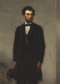 portrait of abraham lincoln by joseph alexandre ames