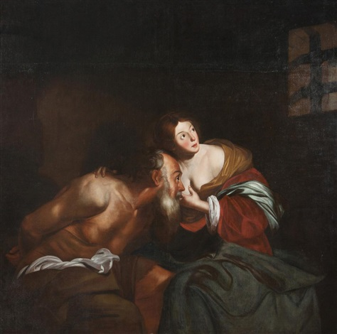 cimon und pero caritas romana by nicolas regnier