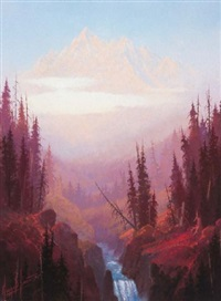 dawn in the rocky mountains by george d. smith