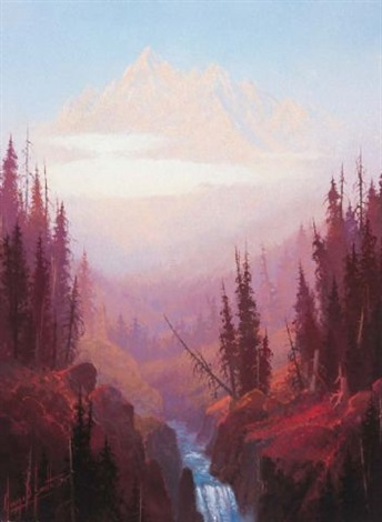 dawn in the rocky mountains by george d smith