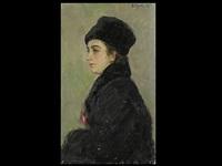 damenportrait by iosif naumovich gurvich
