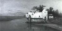 le cafe maure au bord du lac by a. roueff