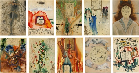 alchemy of the philosophers set of 10 by salvador dalí