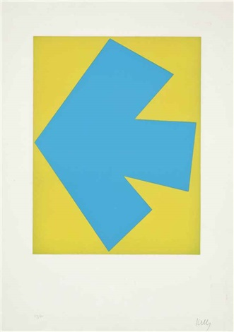 blue over green by ellsworth kelly