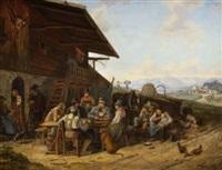 oberbayerisches wirtshaus by karl altmann