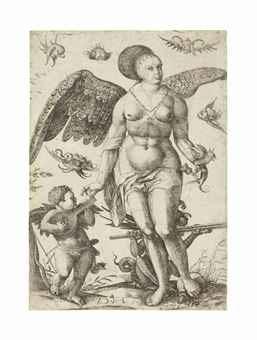 venus and cupid by daniel hopfer
