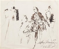 at the ball by leroy neiman