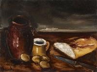 nature morte au pain by maurice de vlaminck