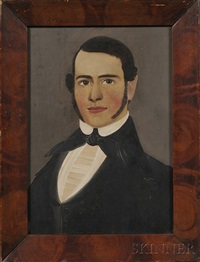portrait of a young man with brown eyes and sideburns by william matthew prior