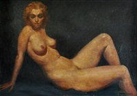 reclining nude by raymond lindsay