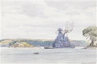 british battleship by norman wilkinson