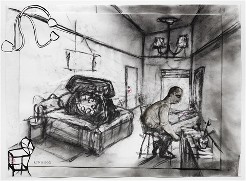 drawing for hotel by william kentridge