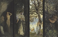 nature's tireing room (+ 3 others; 4 works) by charles daniel ward