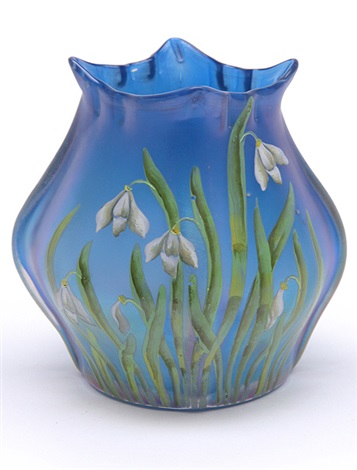vase decorated by betty hedrich by ferdinand von poschinger