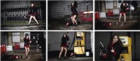 girl at a gas station (6 works) by yulia lebedeva