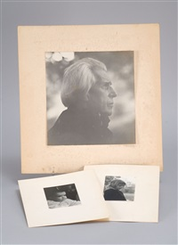 profile of french-canadian pianist jean danserau; a little girl in a black smock; a mother and child (3 works) by consuelo kanaga
