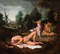 la competición de apolo y marsias y el juicio de midas (dos) by agnolo bronzino