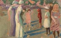 jeu de croquet à trestrignel by maurice denis