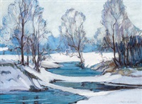 winter stream by charles walter simpson