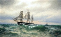 a swedish sailing ship by arvid magnus ahlberg