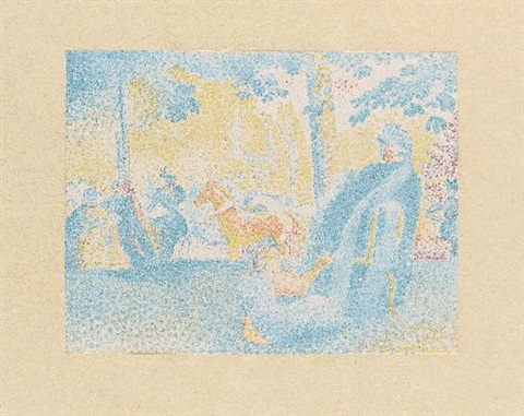 in den champs élysées by henri edmond cross