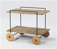 serving trolley by carl auböck