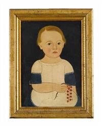 portrait of a boy holding a cherry branch by american school-prior-hamblen (19)