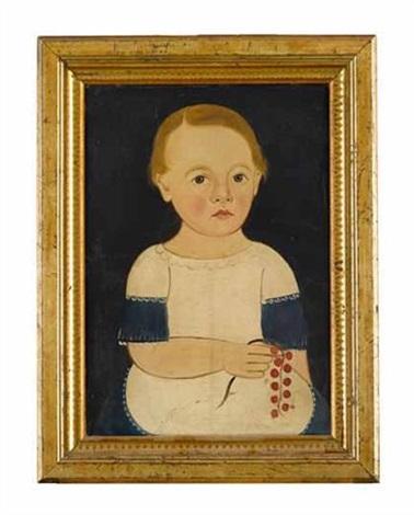 portrait of a boy holding a cherry branch by american school-prior-hamblen (19)