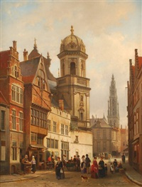 vue d'anvers by jean (jan) michael ruyten