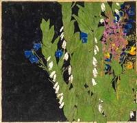 falsches maiglöckchen und andere wiesenblumen by paula maria (rossler) von goeschen