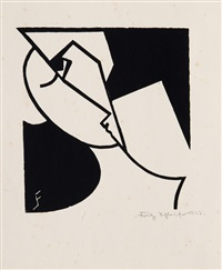 abstract head by fritz schleifer