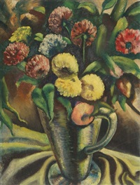 untitled - floral still life (44) by john f. leonard