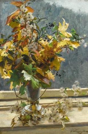 herbstlaub autumn leaves by olga wisinger florian