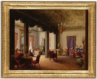 interior of the salon of tsarina alexandra in the villa des herzogs serradifalco, palermo by carl ludwig rundt