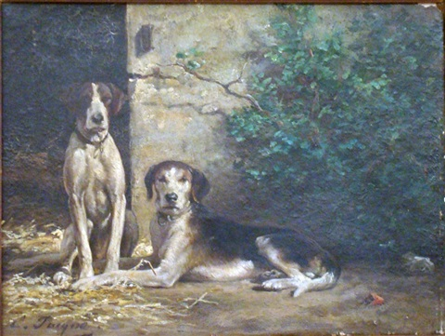 deux chiens by emile jacque