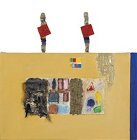 study with totems by joan snyder