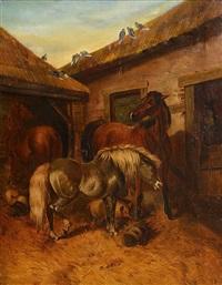 farmyard scene by helen cordelia angell