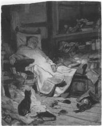 schlafender mönch by wilhelm von lindenschmit the younger