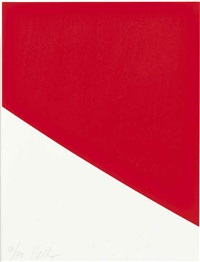 red curve (from third curve series) by ellsworth kelly