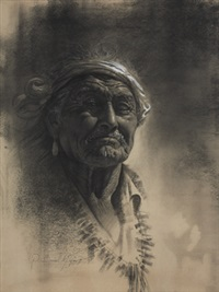 native american portrait by r. brownell mcgrew
