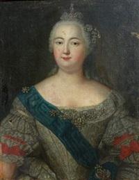 portrait d'elisaveta petrovna by aleksei petrovich antropov