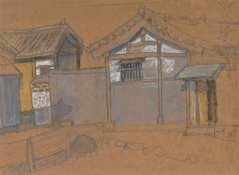 tile roofed house at changsin dong by park soo keun