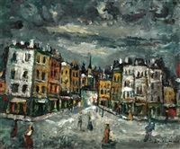 street in paris by boris borvine frenkel
