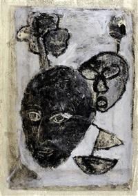 visages, arbres, bateau by jean-philippe aubanel