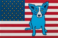 red, white and blues by george rodrigue