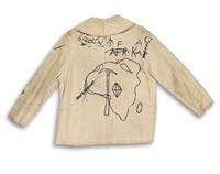 graffiti jacket (mary boone exhibition) by jean-michel basquiat and andy warhol