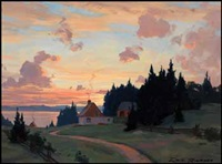 summer evening, lower st-lawrence by eric riordon